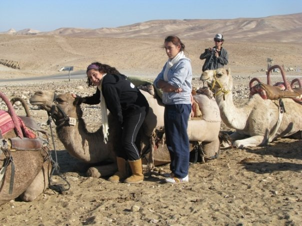 The camel that almost killed us. You can see how unimpressed I am.