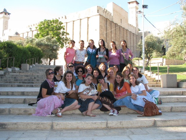 All the girls in Hevron, where the forefathers are said to be buried.