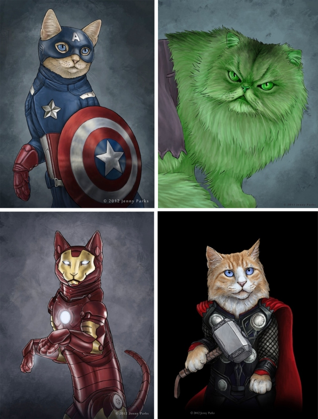 super hero cats