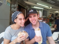 Out for a Shwarma in Tel Aviv.