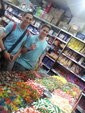 My brothers buying sweets.