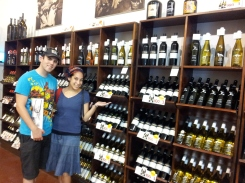 We stumbled upon the Carmel Winery and bought a bottle of wine.