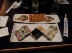 Our final night in Israel - celebrated by eating more sushi.