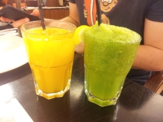 Orange juice and limonana (lemon & mint) juice. That limonana was heavenly.