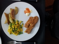 Crumbed fish made in our air fryer.