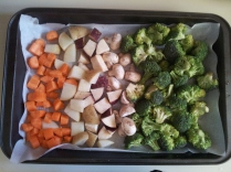 Veggies, ready to be roasted