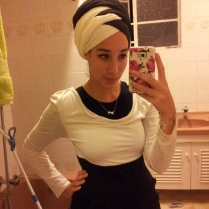Obligatory selfie because my headscarf was epic.
